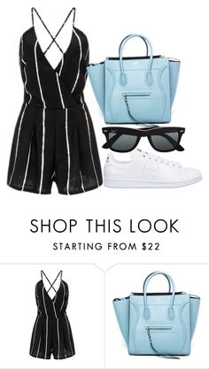 """Untitled #1625"" by fashionistaannie ❤ liked on Polyvore featuring CÉLINE, adidas and Ray-Ban"