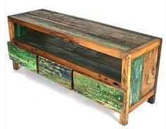 Ecologica – Craftsman Furniture Created From Reclaimed Wood -    Mariana Schechter and her company, Ecologica, create handmade furniture from colorful reclaimed woods. Most of Mariana's furniture is constructed of reclaimed teak and other materials ethically purchased from developing communities.