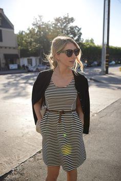 T-Shirt Dress stripes with cheetah