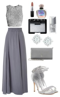 """""""Untitled #531"""" by bekanadasi ❤ liked on Polyvore featuring Phase Eight, Manolo Blahnik, Prada, Mémoire, NARS Cosmetics, Christian Dior and MAC Cosmetics"""