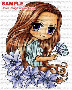 Digital Stamp  Sophia 277 Digi Stamp Coloring page by artbymiran
