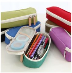 Basic Pencil Box - potential toiletries or jewelry case during travel Pencil Case Pouch, Pen Case, Purse Organization, Organizing, Pencil Boxes, Day Planners, Pen And Paper, Shoe Box, Filofax
