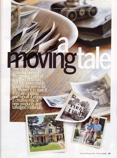 Out Of Print Decorating -  Country Home, February 2004, Moving Tale, featuring 1880s Victorian in Des Moines, Iowa