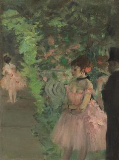 degas art posters for sale | Dancers Backstage Painting - Dancers Backstage Fine Art Print