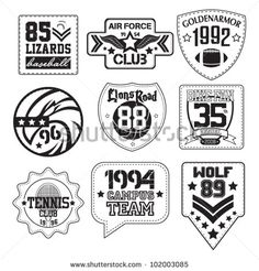 vector patch black and white Polo Bordado, Logos Retro, Leather Label, Polo Jeans, Classic Series, En Stock, Vintage Labels, Machine Embroidery Designs, Printed Shirts