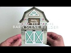 Sharing a fun card idea featuring new Honey Bee Stamps Products including the Barn Scene Builder and Buffalo Plaid Cover Plate dies. This barn card was inspi. Rustic Watering Cans, Barn Builders, Hanging Quilts, Honey Bee Stamps, Flower Stamp, Cool Cards, Paper Piecing, Pattern Paper, Cardmaking