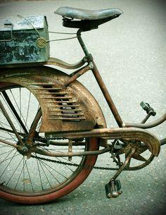 Vintage Bicycle Original Signed Photograph Print 8x10. $20.00, via Etsy.