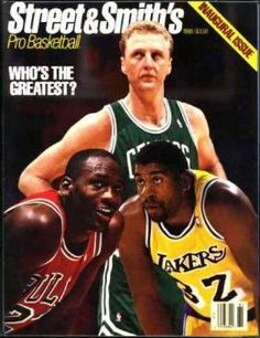 Sports Magazine Covers: Larry Bird, Michael Jordan, Magic Johnson