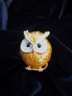Owl Brooch via Etsy