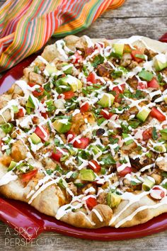 Fire up the grill and try this Grilled Chicken Tex Mex Pizza | ASpicyPerspective.com