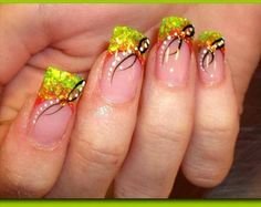 Thanksgiving and Fall Nail Art Designs for 2012 check out MyNailPolishO. for more nail art ideas. Glam Nails, Hot Nails, Hair And Nails, Funky Nails, Thanksgiving Nail Designs, Thanksgiving Nails, Fall Nail Art Designs, Cute Nail Designs, Toe Designs