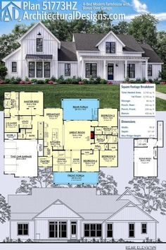 Architectural Designs Craftsman House Plan 500007vv Has A Sturdy Front Porch With Stone And