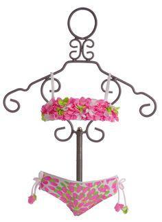 Kate Mack Pink Petals Baby and Toddler Bikini $48.00