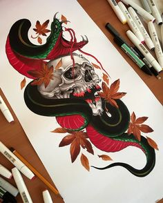japanese with tattoos Asian Tattoos, Tribal Tattoos, Skull Tattoos, Body Art Tattoos, Sleeve Tattoos, Geometric Tattoos, Tattoo Arm, Hand Tattoos, Japanese Snake Tattoo