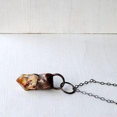 Citrine Pendant Citrine Necklace Gemstone by MidwestAlchemy, $88.50
