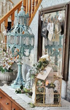 Creative Country Mom: Lovely New Vintage Lace Table Scarf~~~