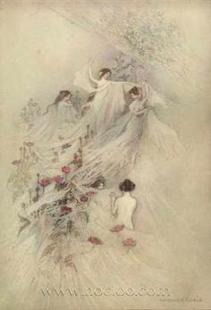 A2 The Water Babies II Warwick Goble 1910 Picture print on Canvas