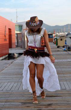 FreeLove Ibiza Asimetrik Skirt whithe available @ Ibiza Trendy #onlineshop