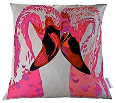 Magenta Flamingos £59.00 inc. UK postage. For full details please see website www.cushionsbydesign.co.uk