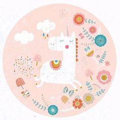 Drawing #unicorn #flowers and #butterflies #surfacepatterndesign #sarabrezzidesign #illustration #graphicdesign #freelance #illustrator #greetingcard