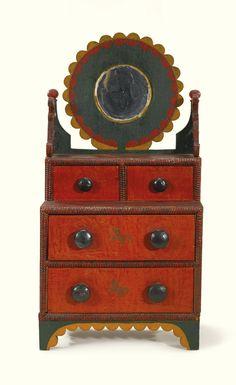 miniature dressing bureau c 1875