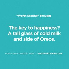 Oh Dang! Love me some Oreos! And love this site... shutupimtalking.com