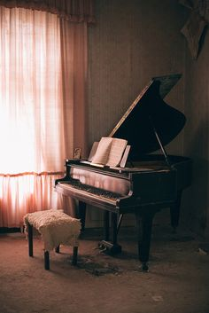Grotrian-Steinweg 1961 Baby Grand Piano, Abandoned in Waldeck Frankenberg, Germany Sound Of Music, Music Is Life, Pop Music, Tumblr P, Shining Stephen King, The Piano, Deco Rose, Old Pianos, Music Aesthetic
