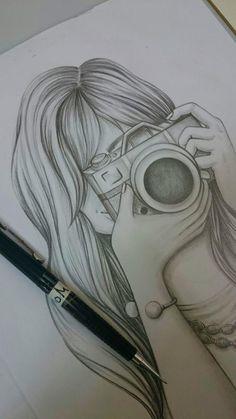 3d Art Drawing, Art Drawings Sketches Simple, Girl Drawing Sketches, Girly Drawings, Art Drawings Beautiful, Princess Drawings, Pencil Art Drawings, Sketch Painting, Beautiful Girl Drawing