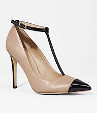 POINTED CAP TOE T-STRAP PUMP #EXPRESS