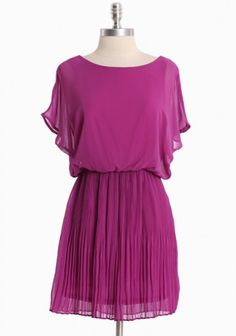 Old Towne Adventures Pleated Dress In Magenta