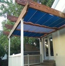 Retractable Canopies, Retractable Shades Retractable Deck and Patio Awnings, Sunshades, Canopies  These CableShades can be fitted under existing pergola or between the arbors when building a pergola.