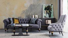 Luxury Sofa, Luxury Living, Sofa Design, Furniture Design, Upholstered Furniture, Living Room Designs, Love Seat, Zen, Art Deco
