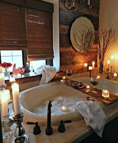 Beautiful Dream Bathroom Design Ideas For Your Home 47 Romantic Bedroom Design, Romantic Room, Romantic Home Decor, Romantic Homes, Bedroom Designs, Romantic Candles, Romantic Cottage, Romantic Bathrooms, Dream Bathrooms