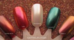 Sally Hansen Lustre Shine duochrome nail polishes!