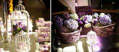 No quadrado da direita: gosto muito deste tipo de decoração com flores = base arrumada e um montinho de flores lindas, mas sem muito frufru