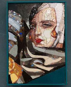 Mosaic Portrait, Mosaic Art, Portraits, Sculpture, Architecture, Diy, Painting, Craft, Tiles