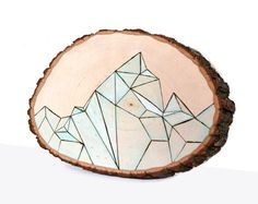 the original tree slice modern art one of a kind by JumpOffThePage