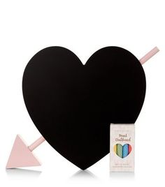 Black Heart Chalk Board