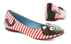 Striped Cat Flats /