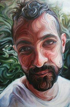 """Artist: Nikos Gyftakis; oil on canvas 2010 Painting """"Yiannis"""""""