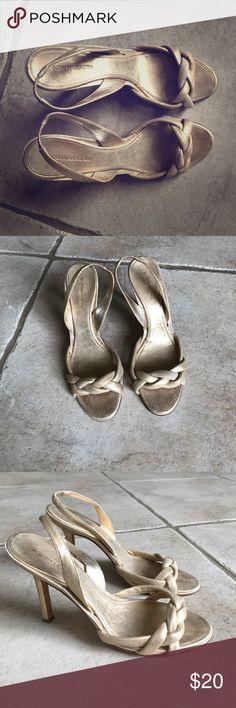 BCBG Maxazria gold shoes BCBG Maxazria gold shoes Shoes Heels