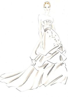 Wedding Dress by sketches by 628, via Flickr