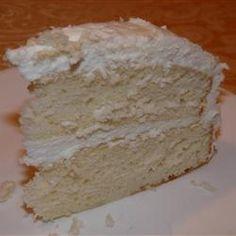 white almond celebration cake recipe (mix)