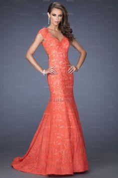BILLY wedding?!...Trumpet/Mermaid V-neck Lace Sweep/Brush Train Prom Dress - IZIDRESS.com at IZIDRESS.com...Billy wedding?!