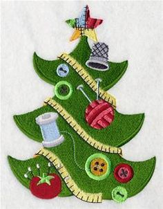 Crafty Christmas Tree at Embroidery Library! - want to use this on a small wall hanging