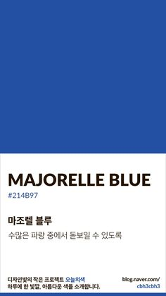 [오늘의 빛: 오늘의 색] 마조렐 블루 : 네이버 블로그 Flat Color Palette, Colour Pallete, Color Schemes, Pantone Colour Palettes, Pantone Color, Pantone Blue, Colour Dictionary, Colour Story, Color Pick