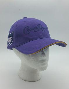 1d2f8bcd8f804 Crown Royal liquor purple Baseball Cap Hat Adjustable Championship Racing  swag