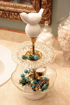 amazing DIY jewelry stand! via @Michelle Edwards of sweet something designs