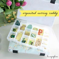 Keep your earrings in pairs instead of singles with this Organized Earring Caddy via Hi Sugarplum