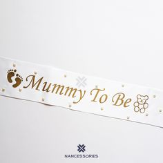 Mummy To Be Sash / Pearl Sash / Baby Shower Sash